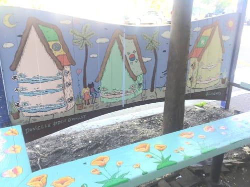 Murals by Danielle O'Malley seen at Burma Superstar, Oakland, Oakland - Mural for Burma Superstar
