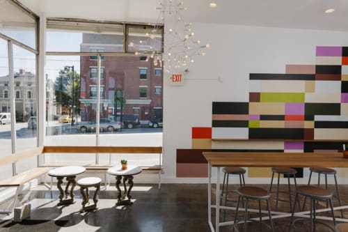 Murals by Jenny McGee Dougherty seen at Tandem Coffee and Bakery, Portland, ME, Portland - Fresh Grid