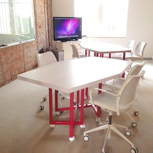 Tables by Alex Drew & No One seen at Birmingham, Birmingham - Custom Hexagonal Solid Ash Conference Table