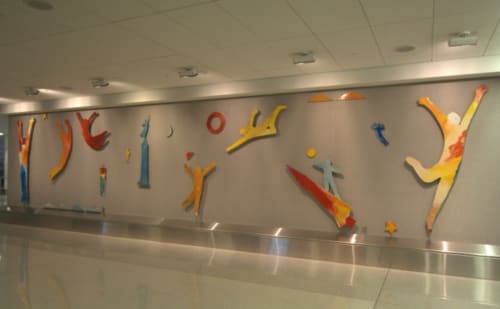 Paintings by Dan Snyder seen at San Francisco International Airport, San Francisco - Welcome Art
