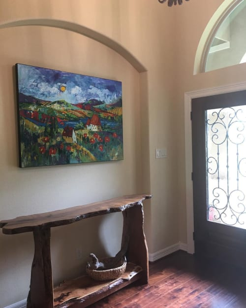 Paintings by Elaine Lanoue seen at Private Residence, Magnolia - Happy Houses Painting