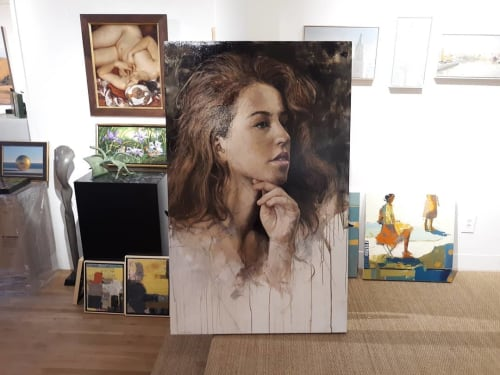 Paintings by Aiden Kringen seen at Winfield Gallery, Carmel-by-the-Sea - Contemplation