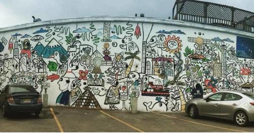 Murals by Modern Volume seen at Alaskan Motor Inn, Fairbanks - Mural