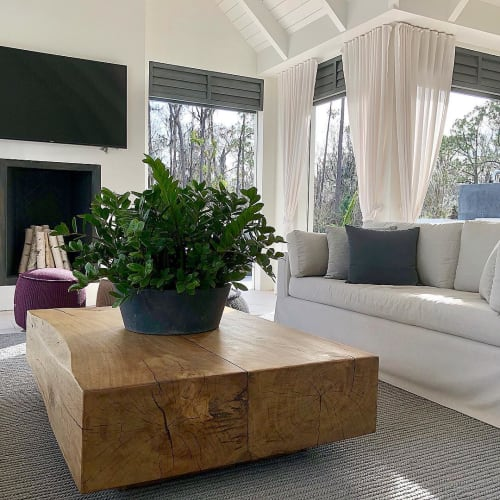 Tables by Doro Designs seen at Private Residence, Orlando - Custom Coffee Table