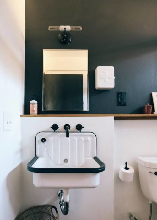 Water Fixtures by Rejuvenation at The Joshua Tree Casita, Joshua Tree - Alape's Bucket Sink