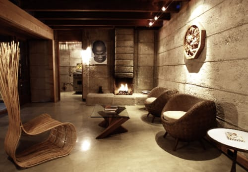 Chairs by Kenneth Cobonpue at Schindler Beach House, La Jolla CA, San Diego - Yoda Easy Chair