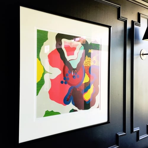 Paintings by Pose seen at Californios, San Francisco - Artwork - Blot Magenta