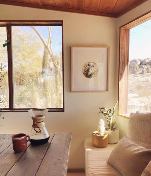 Paintings by Stella Maria Baer seen at The Joshua Tree Hacienda, Joshua Tree - Pink Sands Moon