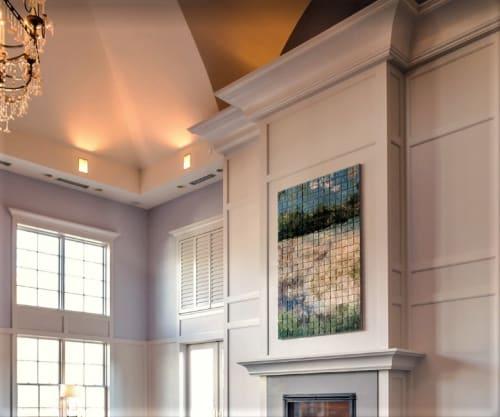 Public Mosaics by Elizabeth MacDonald at Emerson Resort & Spa, Mount Tremper - River