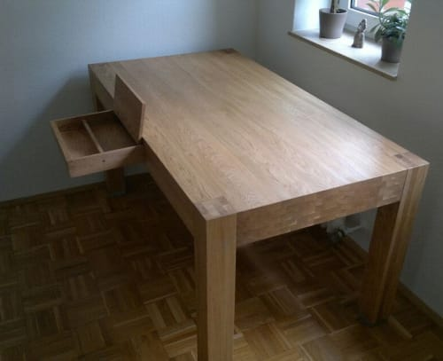 Tables by Julian Szmania seen at Private Residence, Eschweiler - Dining Table