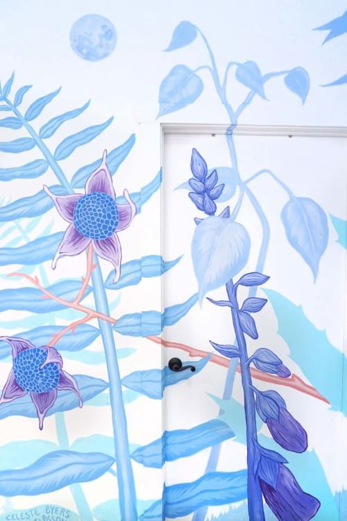 Murals by Aaron Glasson seen at Bloom Juice, Issaquah - Bloom Juice Mural