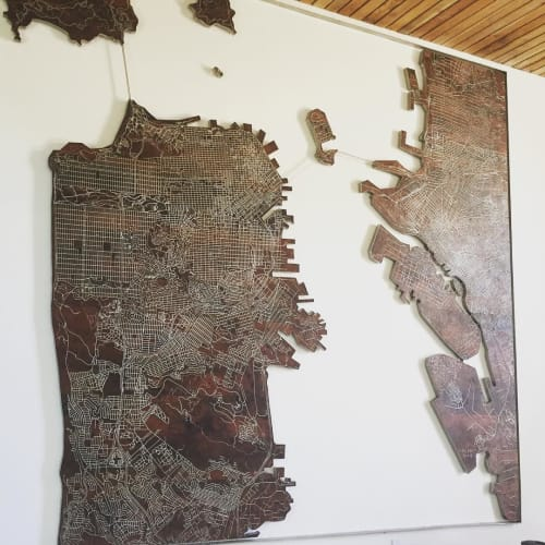 Sculptures by Alexis Laurent at The Pearl, San Francisco - Bay Area Transport Map