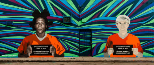 'Crimes Against Art' Mural   Street Murals by Elisabetta Fantone Art