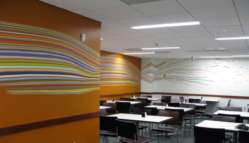 Murals by Leah Rosenberg seen at Moffitt Cafe - UCSF Medical Center, San Francisco - Gather