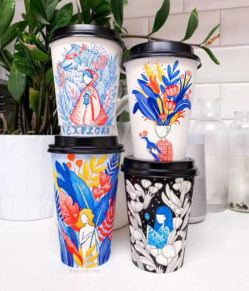 Cups by Loe Lee seen at Private Residence, New York - Coffee Cup Design