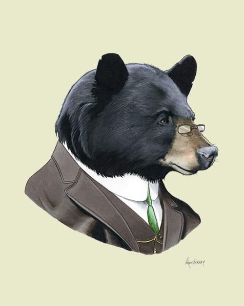 Paintings by Ryan Berkley seen at Fable, San Francisco - Animal Illustrations (in Edwardian garb)