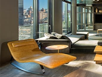 Chairs by Jeffrey Bernett seen at Dream Downtown, New York - Landscape Chaise Longue