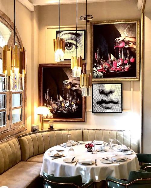 Interior Design by KBF interiors seen at La Salle a Manger, Tunis - Restaurant Interior Design