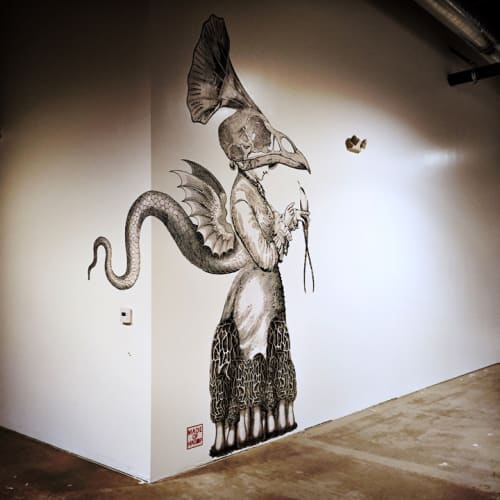 Murals by Made of Hagop at Playa Studios, Culver City - Mrs. Puffs