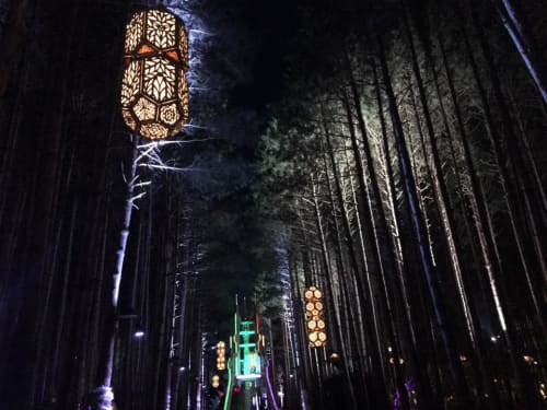 Lighting by Curious Customs seen at Electric Forest, Rothbury - Lanterns