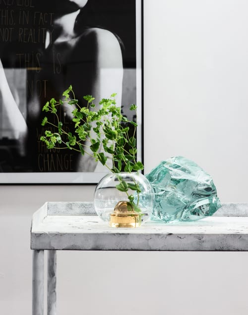Vases & Vessels by Marie Burgos Design seen at Private Residence, New York - FLOWER BULLET VASE CLEAR