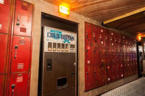 Furniture by Houston Hospitality seen at Break Room 86, Los Angeles - Custom Secret Entrances