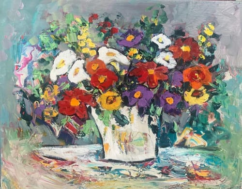Paintings by Elaine Lanoue seen at Private Residence, Houston - Flower Painting