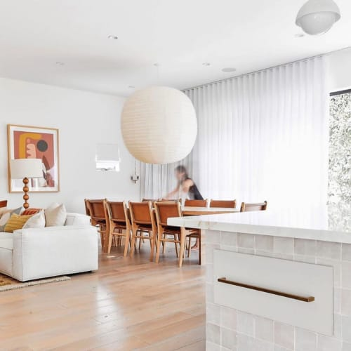 Chairs by Barnaby Lane seen at Private Residence, Los Angeles - Spensley Dining Chair-Tan