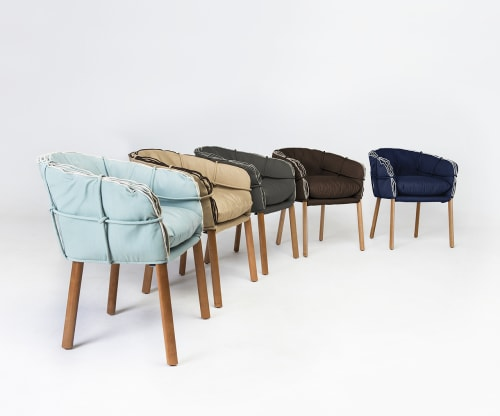 Chairs by Kenneth Cobonpue at La Bohème Schwabing, München - Parchment Armchair