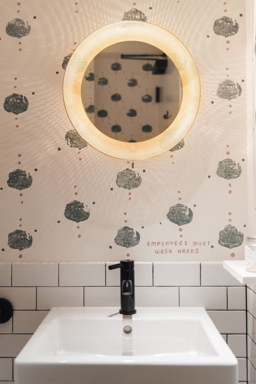 Paintings by Leanne Shapton seen at Nix, New York - Hand-Painted Bathroom Walls