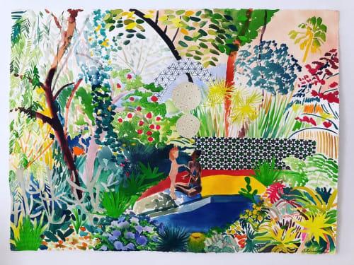 Paintings by Alexandra Karamallis seen at Tappan Collective, Los Angeles - Wall Series