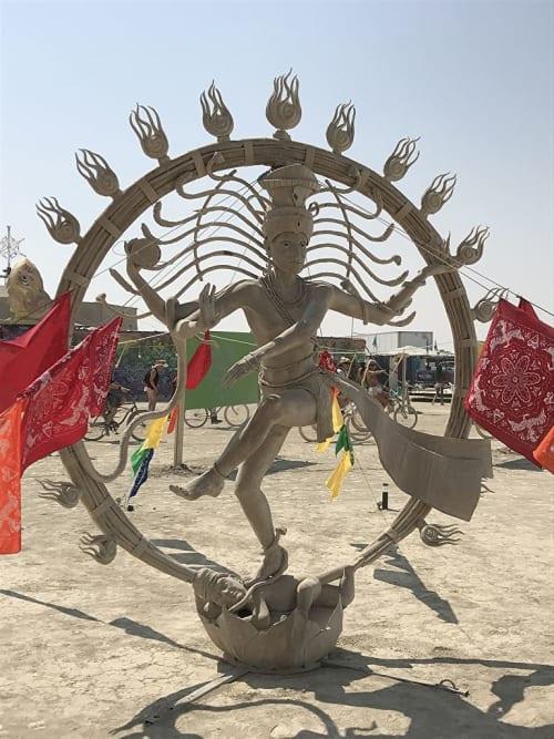 Public Sculptures by Emma Hardy seen at Black Rock Desert - Nataraja