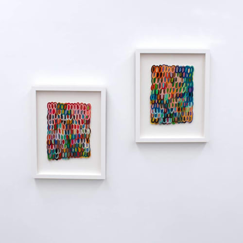 Paintings by Chelsea Hopkins-Allan seen at Private Residence, Albany - 'Butterfly Wing-Scales'