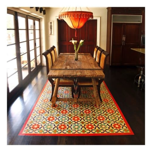 Custom Painted Rug By Londubh Studio Seen At Private Residence