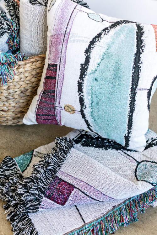 "Pillows by K'era Morgan seen at Creator's Studio, Los Angeles - ""Gumdrop"" Throw Pillow Cover"