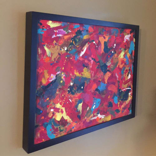 Paintings by Julie Shunick Brown seen at Private Residence, Portland - Abstract Painting