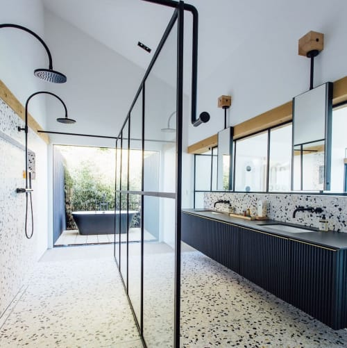 Tiles by concrete collaborative seen at Private Residence, San Diego - Terrazzo Tiles
