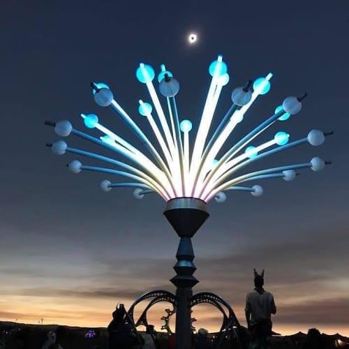 Public Sculptures by Michael Christian seen at Big Summit Prairie - Merry Go Go