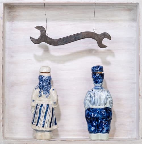 Wall Hangings by Gayle Friedman seen at Red Dirt Studio, Mount Rainier - Delftware & Tools Installation
