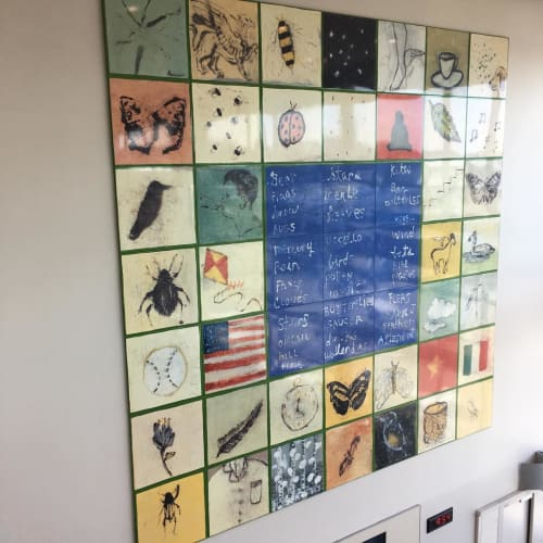 Art & Wall Decor by Squeak Carnwath seen at San Francisco International Airport, San Francisco - Fly, Flight Fugit