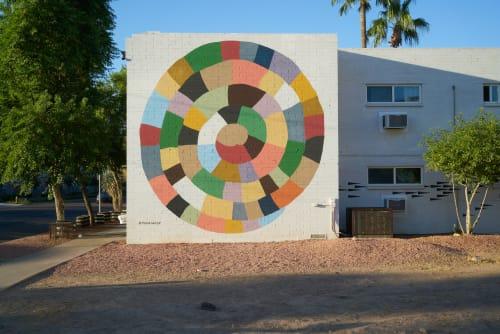 Street Murals by Carrie Marill seen at Downtown Phoenix - 3rd street & Garfield, Phoenix - Spiral Mural