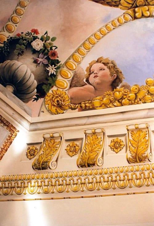 Murals by Catherine Lovegrove Murals seen at Private Residence, New York - Cherubs ceiling mural