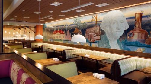 Murals by Kiki Carrillo seen at Farmers & Distillers, Washington - Georgie Distills
