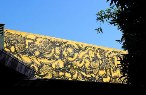 Street Murals by Mark Dean Veca seen at Offramp Gallery, Pasadena - Offramp Mural