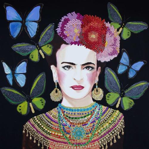 Paintings by Ashley Longshore at Three Wynwood, Miami - Frida