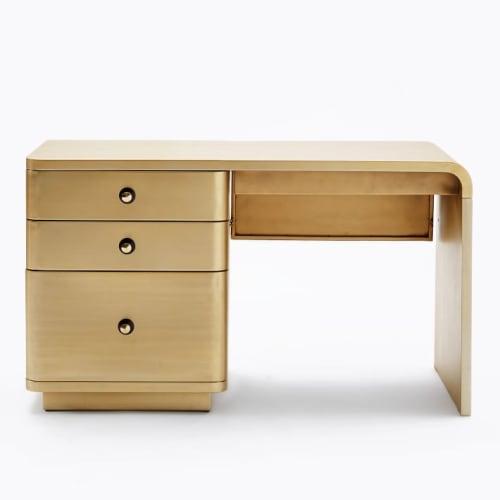 Furniture by West Elm seen at JW Marriott Essex House New York, New York - Chrysler Desk