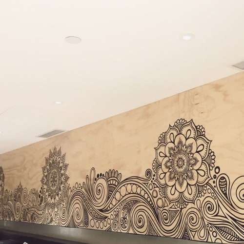 Murals by fortyonehundred seen at Westfield Newmarket, Auckland - Mural