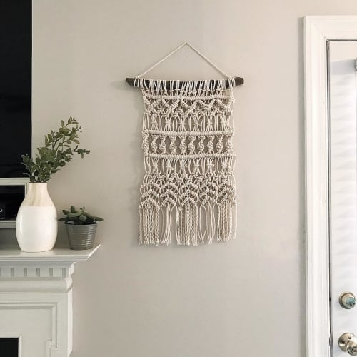 """Macrame Wall Hanging by Tori Simonds seen at Private Residence, Cleveland - """"Caroline"""""""