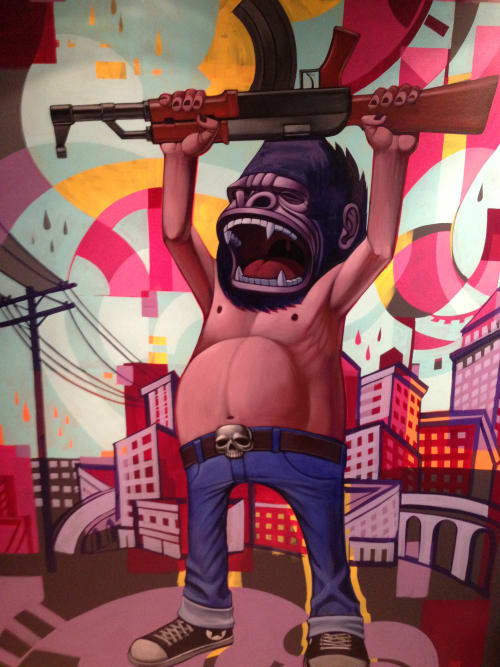 Murals by John Park seen at Beach Head Studios - Santa Monica,CA, Santa Monica - Armed Gorillas 2013