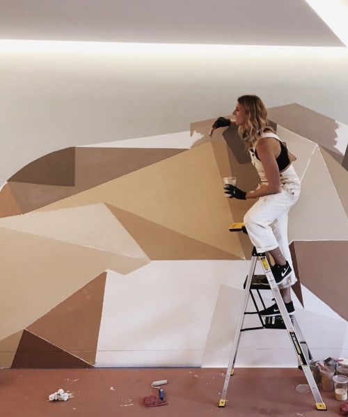 Murals by Allison Kunath at 160 Spear St, San Francisco - Joshua Tree
